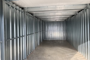 We have storage units from 5' x 5' up to 10' x 40'. Our rent runs month-to-month so we can accommodate short-term storage.